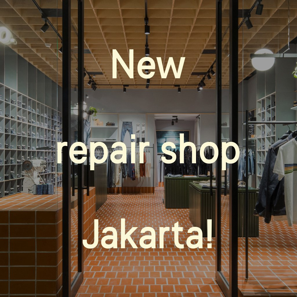 Welcome to Nudie Jeans Plaza Indonesia, Jakarta.