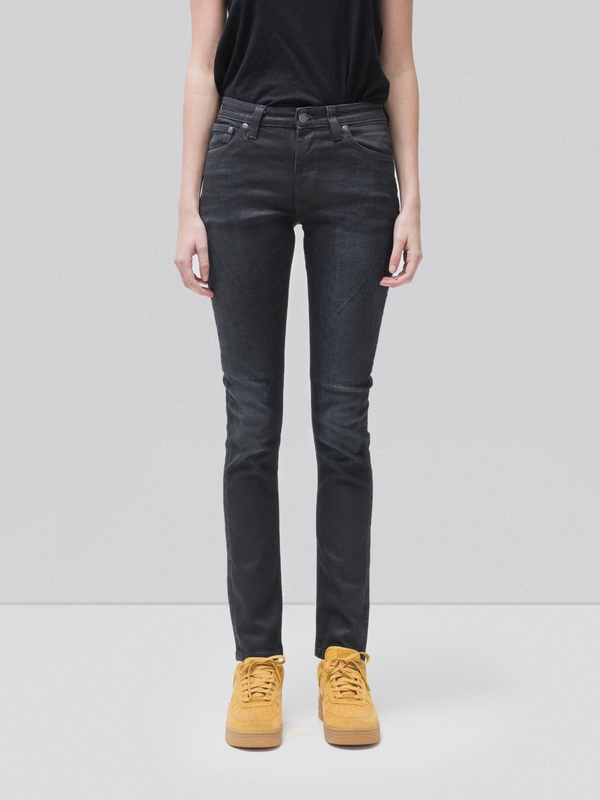 Skinny Lin Ink Black jeans prewashed