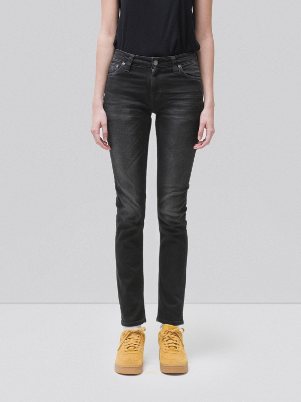 Skinny Lin Black Waves black jeans