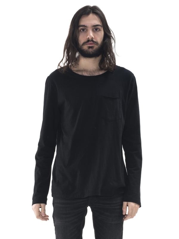 Orvar Pocket Tee Black short-sleeved tees solid