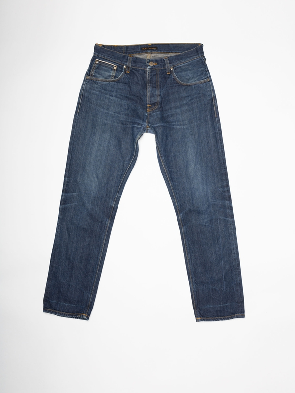 Steady Eddie Re-use 862 selvage re-use mid-blue repaired
