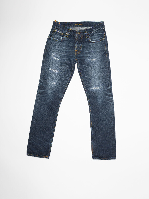 Grim Tim Re-use 868 selvage re-use dark-blue repaired