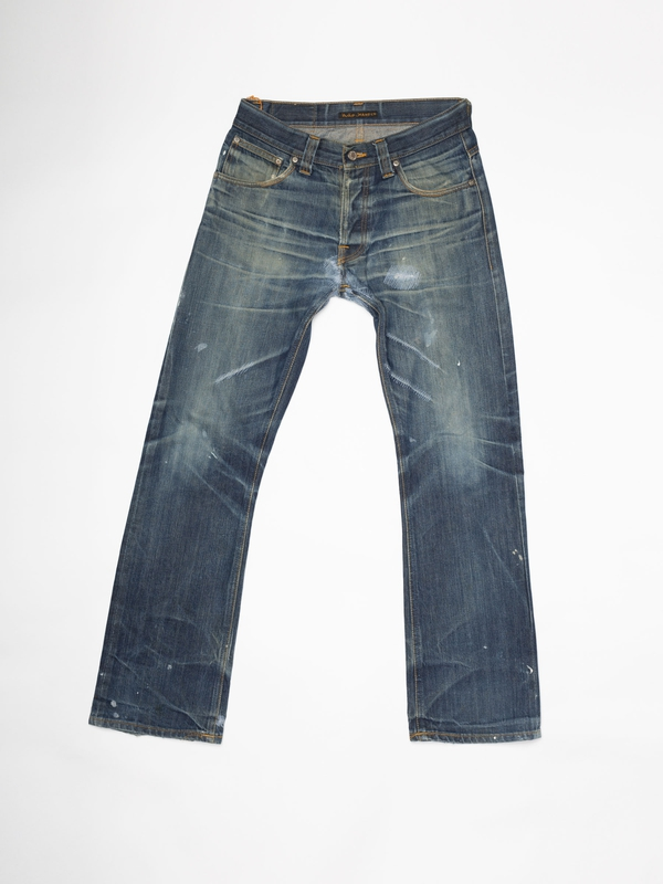 Regular Alf Re-use 871 selvage re-use mid-blue repaired