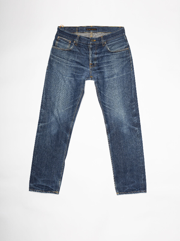 Steady Eddie Re-use 936 selvage re-use mid-blue repaired