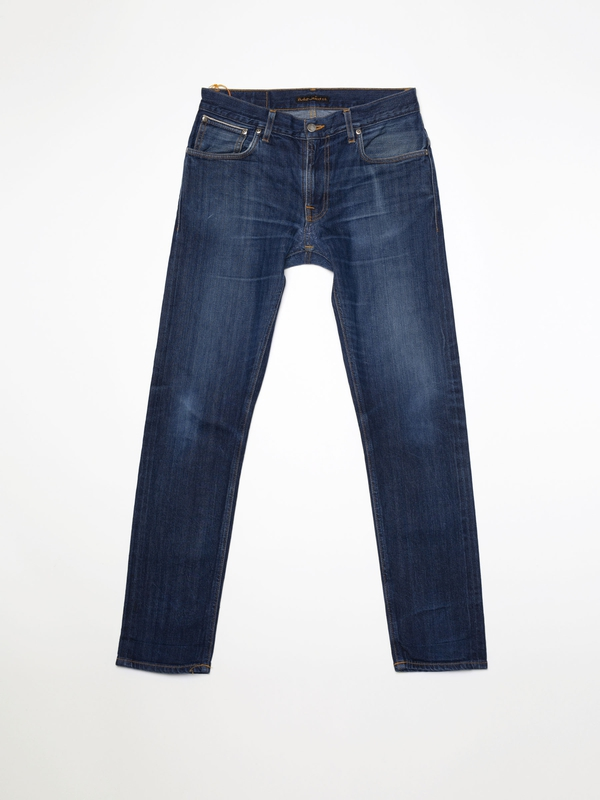 Thin Finn Re-use 940 selvage re-use mid-blue repaired