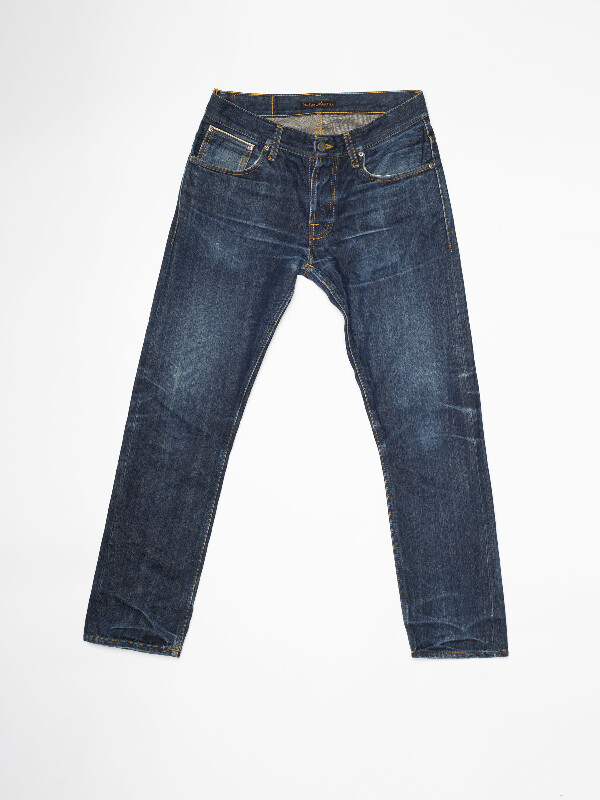 Grim Tim Re-use 960 selvage re-use mid-blue repaired