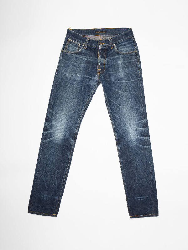 Steady Eddie Re-use 961 selvage re-use mid-blue repaired