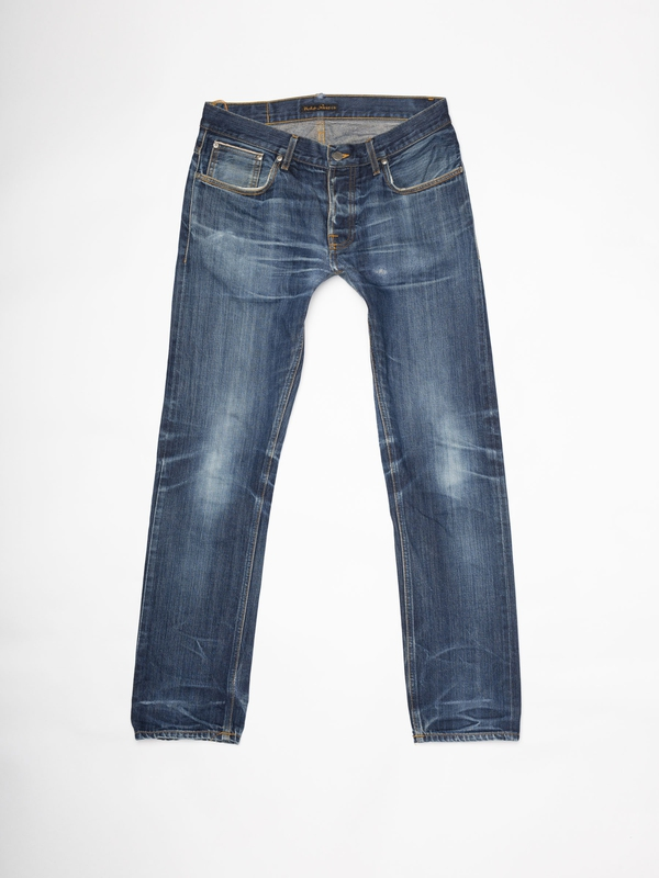 Grim Tim Re-use 962 selvage re-use mid-blue repaired