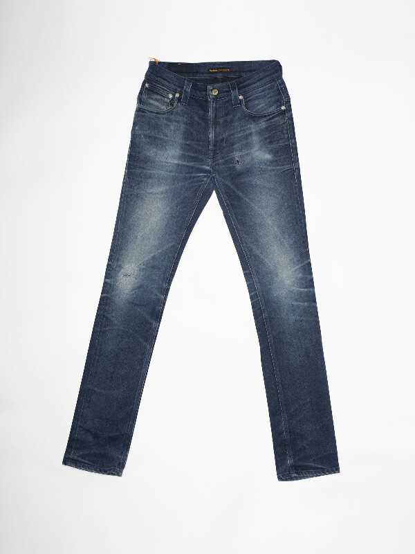 Thin Finn Re-use 963 selvage re-use mid-blue repaired