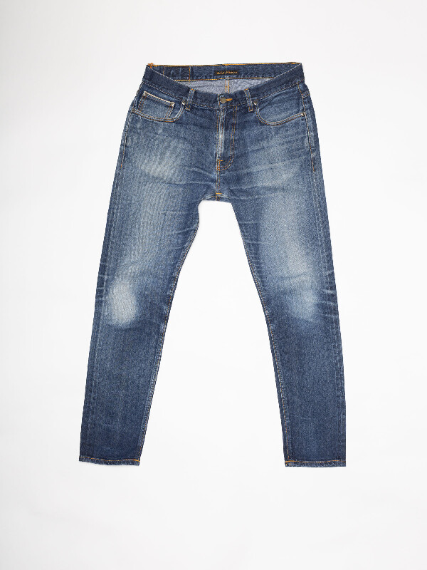 Brute Knut Re-use 989 selvage re-use mid-blue repaired