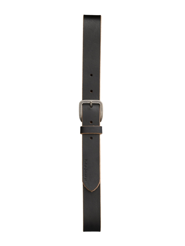 Albertsson Raw Edge Belt Black belts accessories