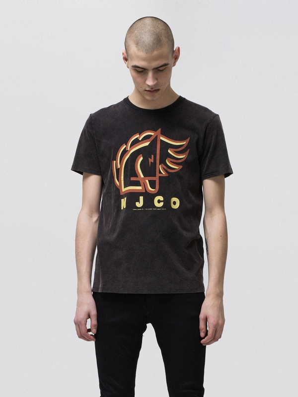 Anders Backahasten Black short-sleeved tees printed