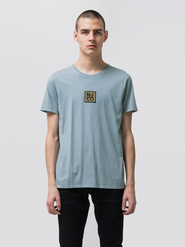 Anders Badge Blue Metal short-sleeved tees printed