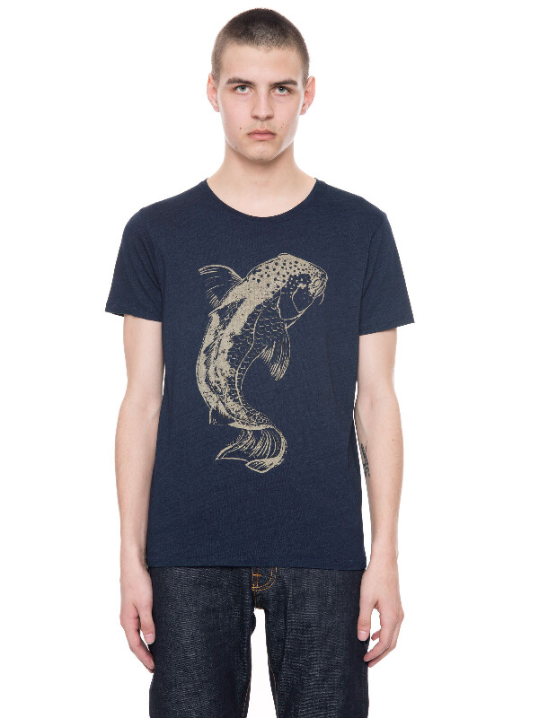 Anders Cod Indigo short-sleeved tees printed
