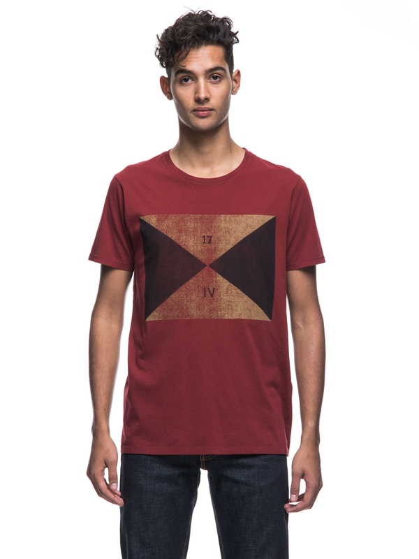 Anders Flag Mantle Red short-sleeved tees printed