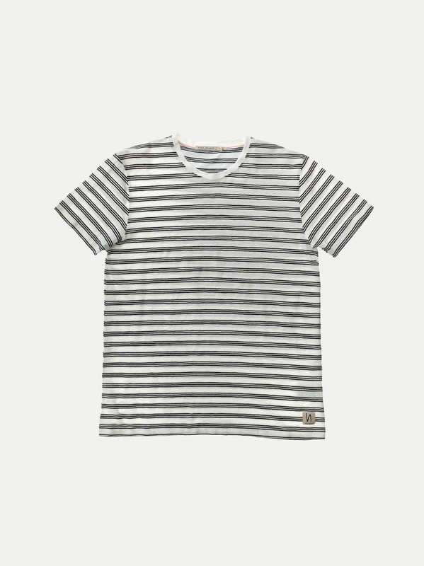 Anders Graphic Stripe Offwhite/Black