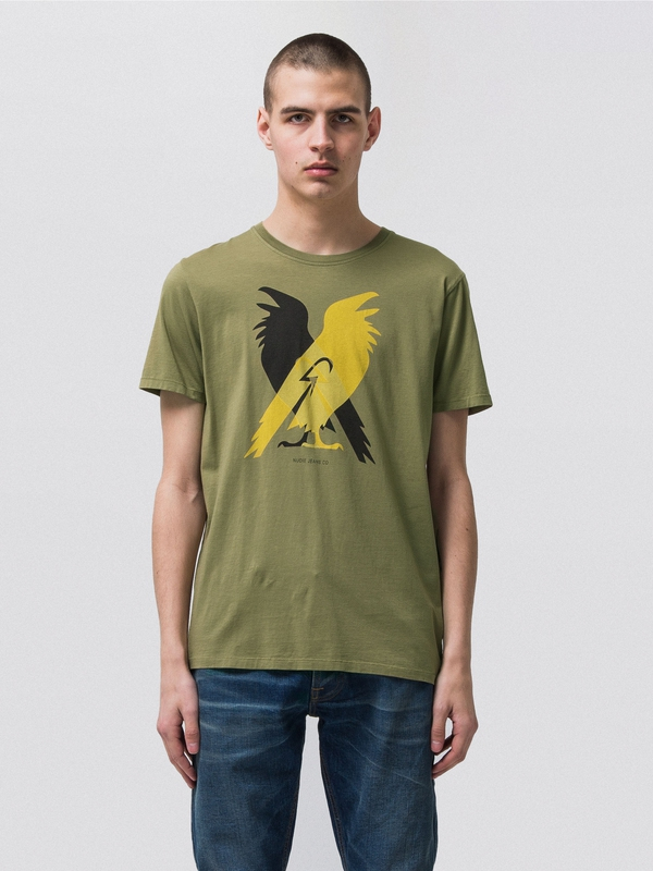 Anders Hugin And Munin Beech Green short-sleeved tees printed