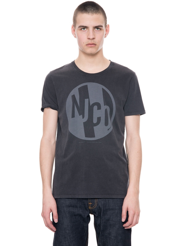 Anders NJCO Circle Black short-sleeved tees printed
