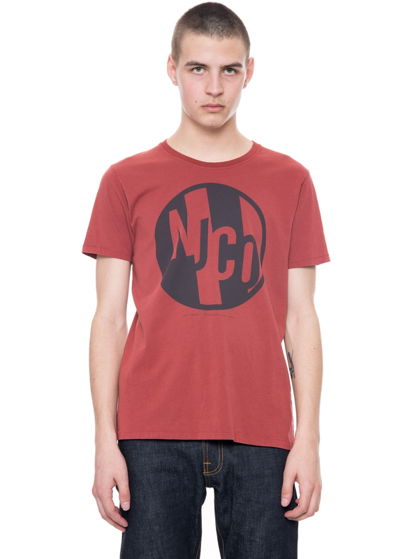 Anders NJCO Circle Viking Red short-sleeved tees printed