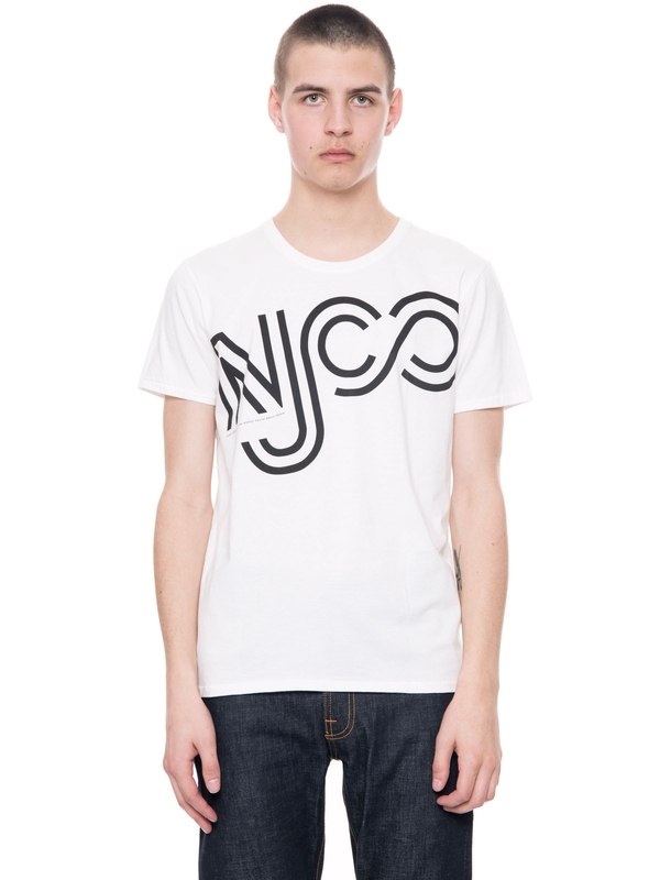 Anders NJCO Outlines Offwhite short-sleeved tees printed