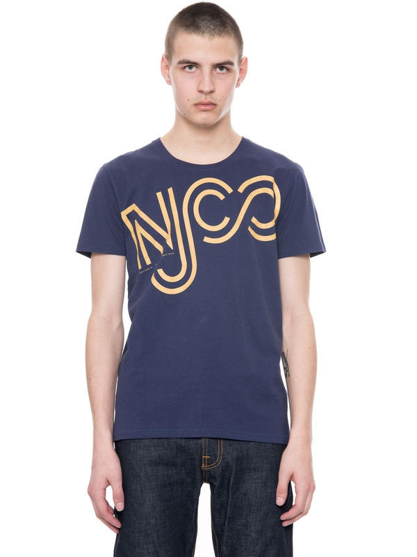 Anders NJCO Outlines Prince Blue short-sleeved tees printed