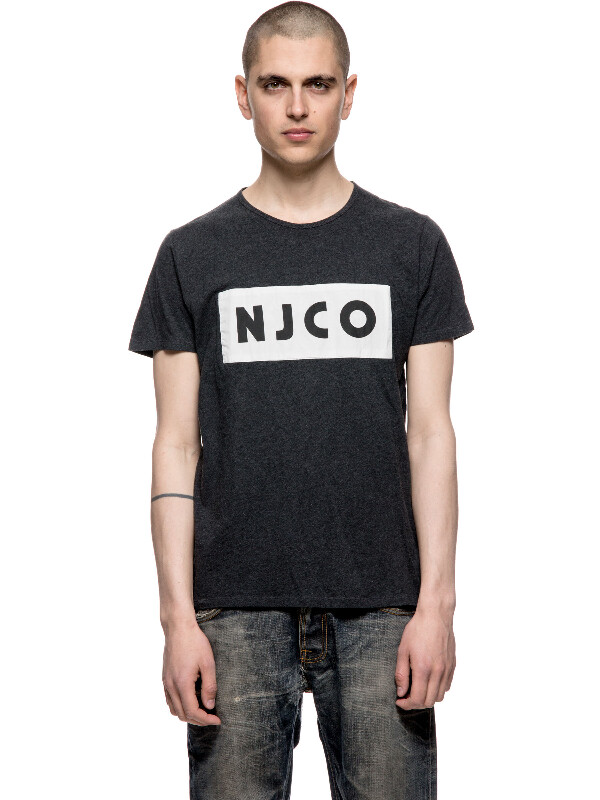 Anders NJCO Patched Antracitemelang short-sleeved tees printed