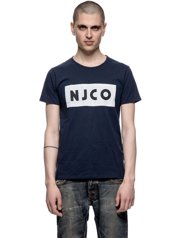 Anders NJCO Patched Navy short-sleeved tees printed