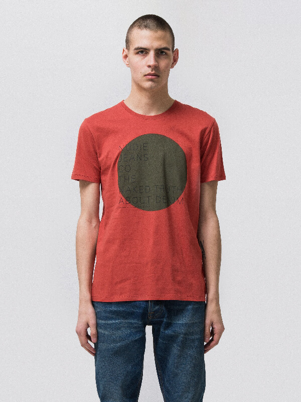 Anders Naked Circle Aurora Red short-sleeved tees printed