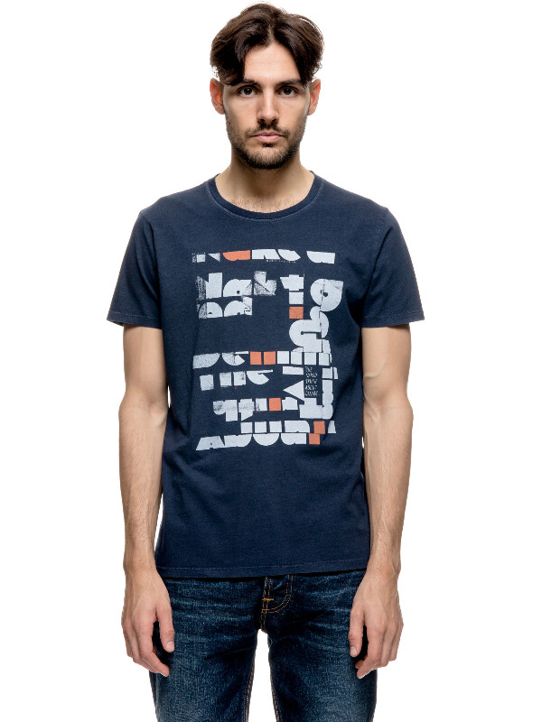 Anders Naked Cut-Out Midnight short-sleeved tees printed