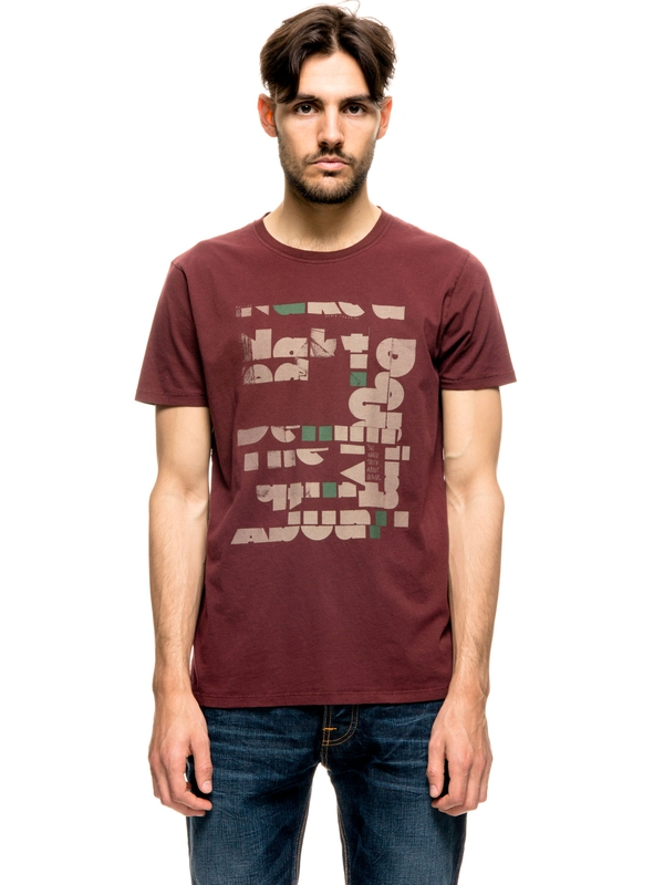 Anders Naked Cut-Out Ruby short-sleeved tees printed