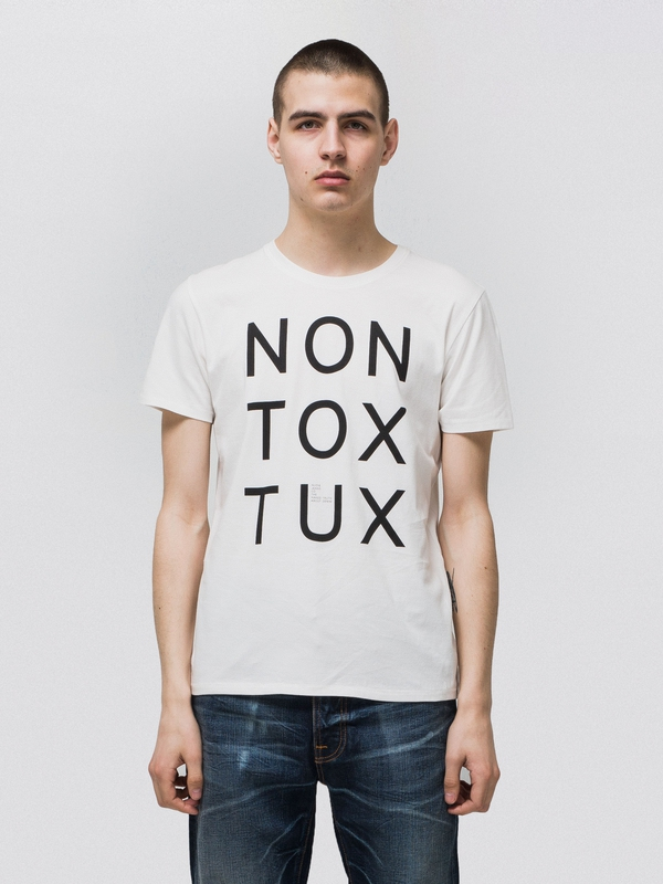 Anders Non Tox Tux Offwhite short-sleeved tees printed