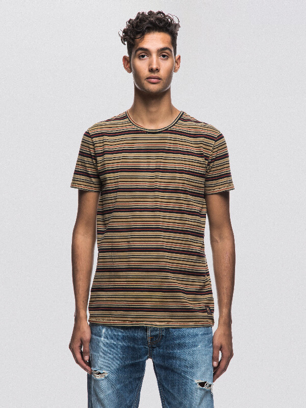 Anders Overdyed Stripes Lion short-sleeved tees printed