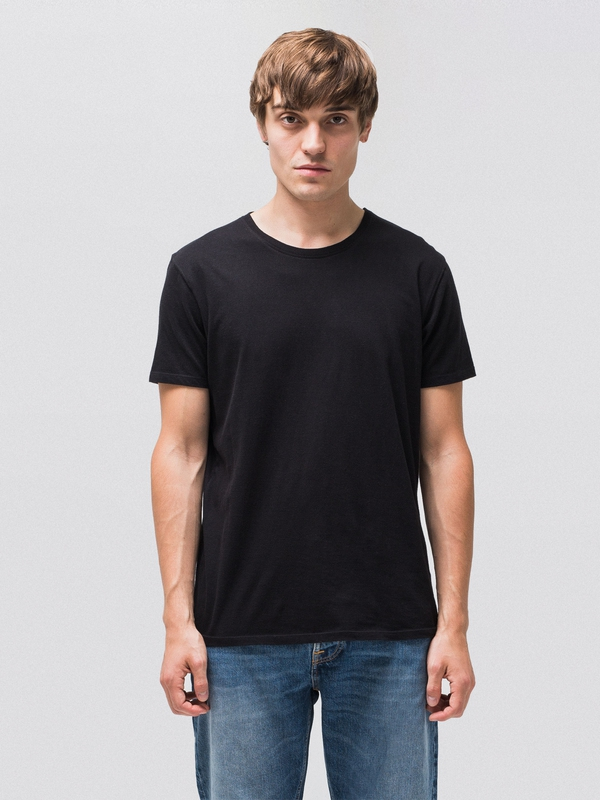 Anders Black short-sleeved tees solid