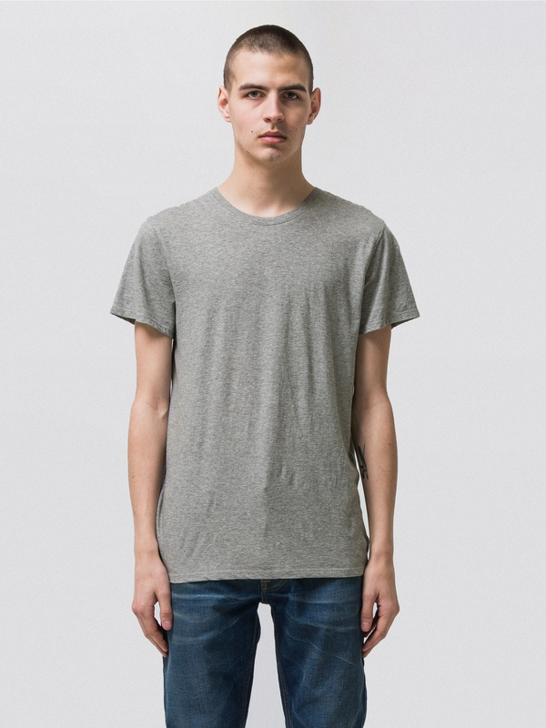 Anders Greymelange short-sleeved tees solid