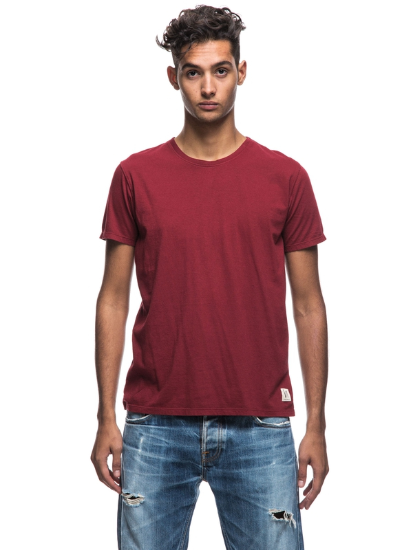 Anders Mantle Red short-sleeved tees solid