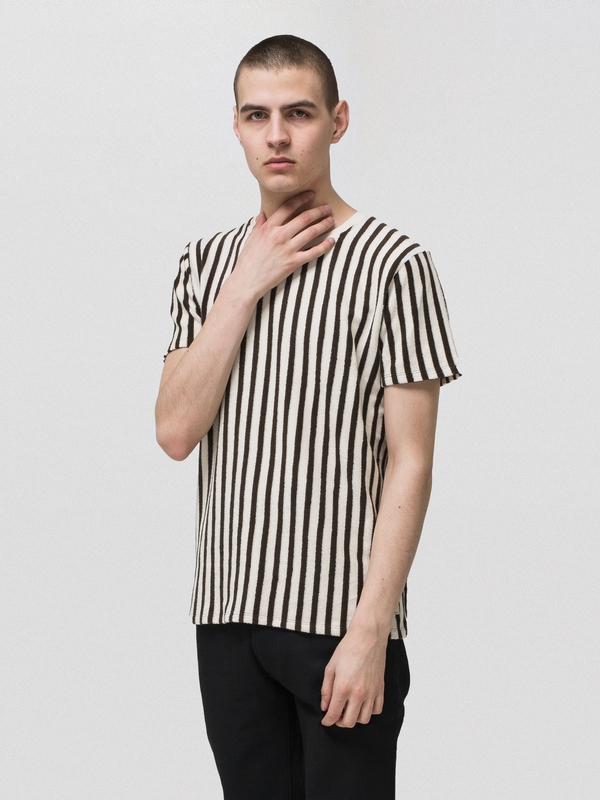Anders Terry Stripe Choko short-sleeved tees