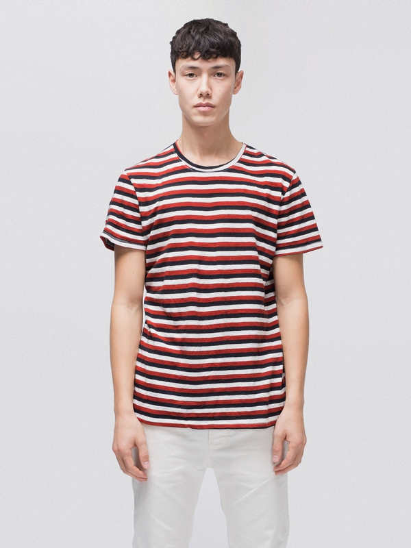 Anders Tricolour Stripe short-sleeved tees printed