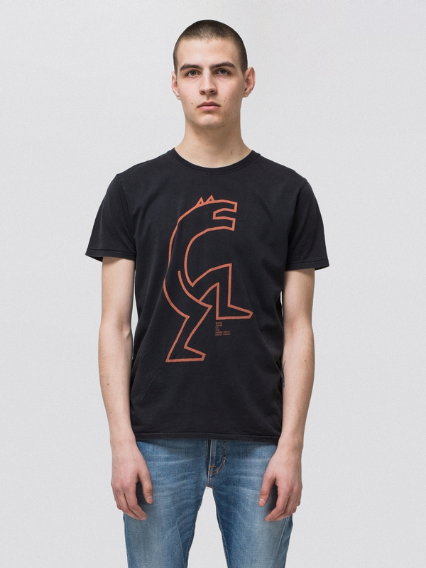 Anders Wolf #1 Black short-sleeved tees