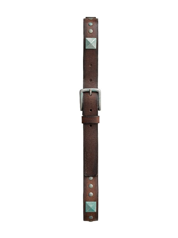 Andreasson Studs Belt Brown belts accessories