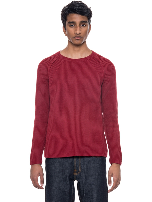 Aron Heavy Rib Viking Red knits