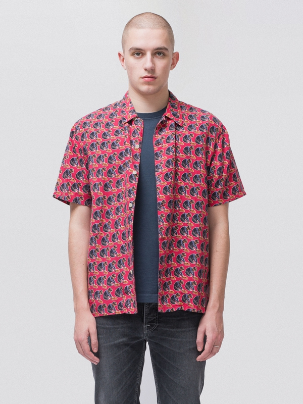 Arvid Hawaii Logo Boy Cerise short-sleeved shirts