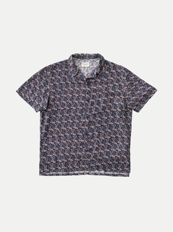 Arvid Hawaii Logo Boy Midnight short-sleeved shirts