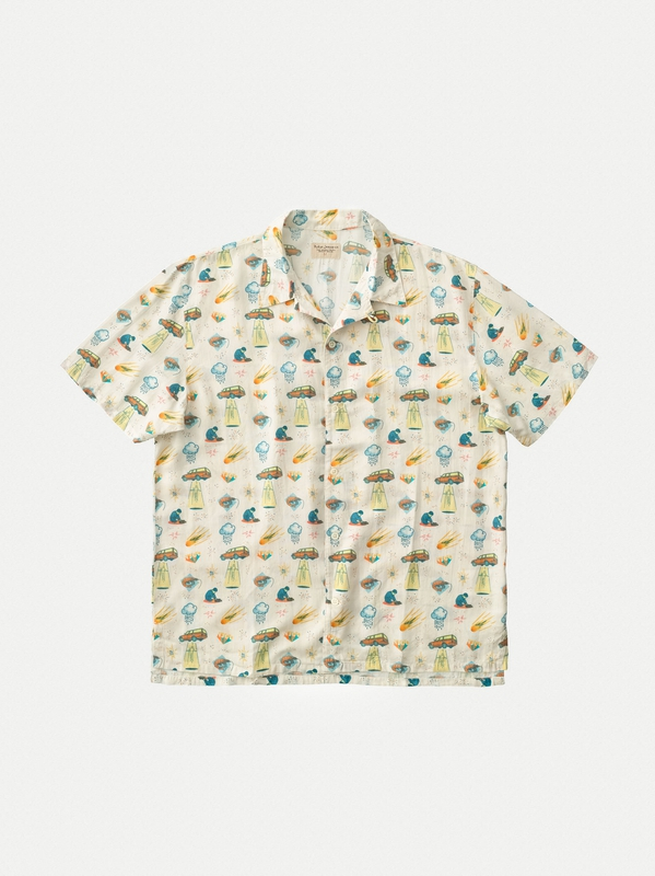 Arvid West Coast Remix Dusty White short-sleeved shirts