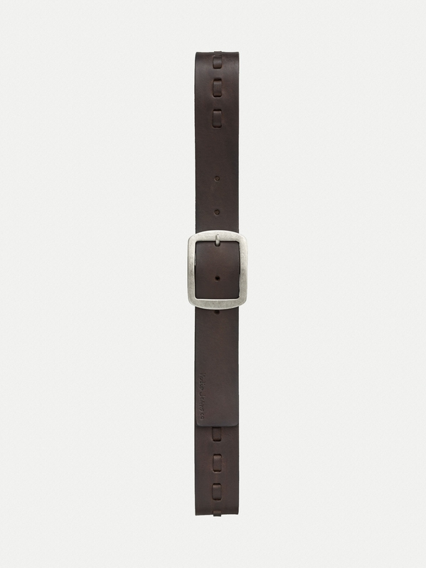 Axelsson Leather Stitch Belt Choko belts accessories