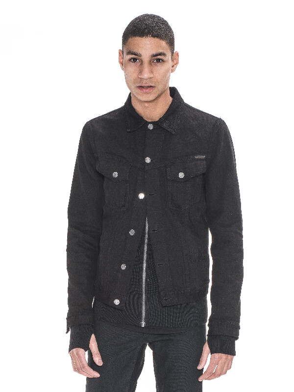 Billy Black Black Worn Black black denim-jackets