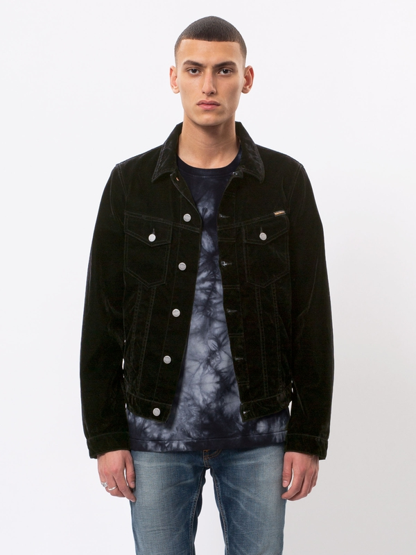Billy Dark Velvet black denim-jackets