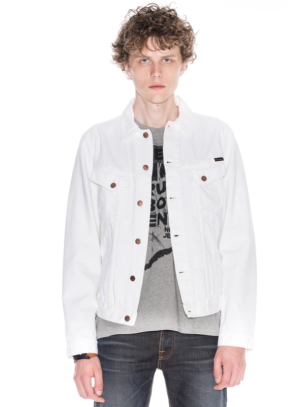 Billy Pitch White Worn White prewashed denim-jackets