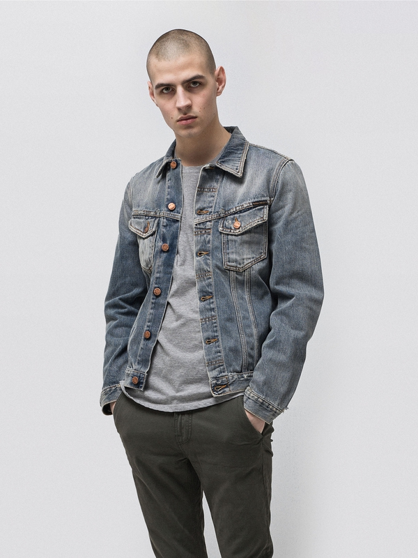 Billy Shimmering Indigo prewashed denim-jackets