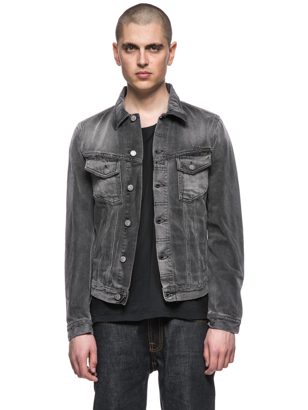 Billy Shimmering Shist Grey prewashed denim-jackets