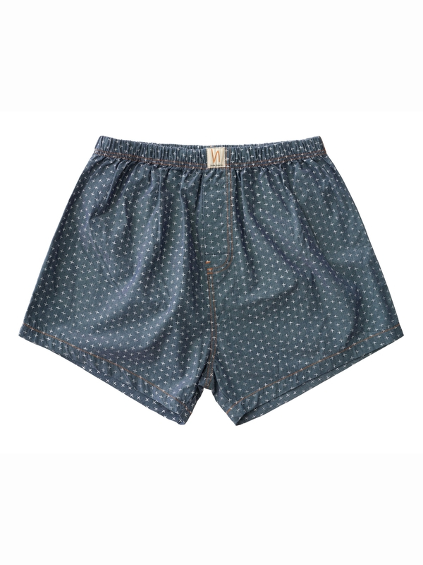 Boxers Chambray Cross Indigo boxers underwear